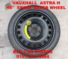 "VAUXHALL  ASTRA  H SPACE SAVER   STEEL  WHEEL   FULL SIZE  16""     2005 - 2009"